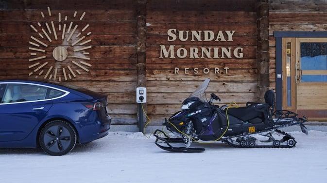 eSled Sunday morning resort